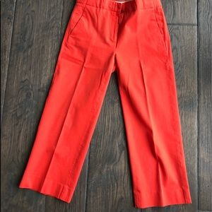 Jcrew Wide leg pants and red size 0